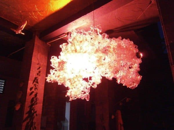 Luxury Trash Chandelier From Recycled Plastic Bottles Lamps & Lights Recycled Plastic