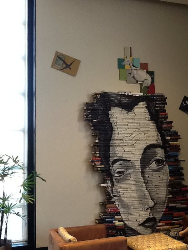 Rice Fine Art Library Book Art Recycled Art Recycling Paper & Books