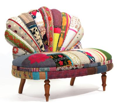 Colored Upholstered Vintage Furniture Recycled Furniture