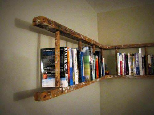 Ladder Bookshelf Do-It-Yourself Ideas Recycled Furniture