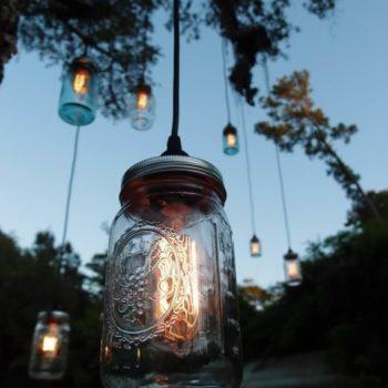 Mason Jars Transformed into Lights !