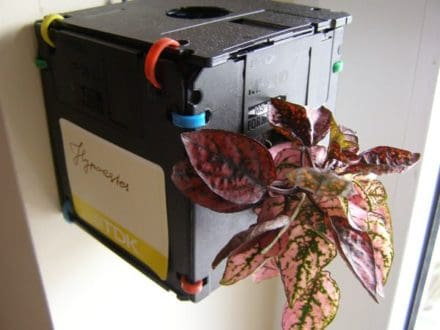 Re-formatted/Format A: Floppy Disk Planter