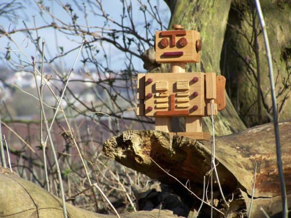 Natures Woodbots Are Rising from the Leaves Recycled Art Wood & Organic