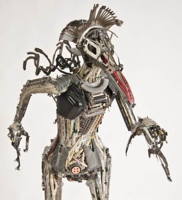 Upcycler Gabriel Dishaw Recycled Art Recycled Electronic Waste