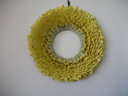 Yellow Pages Wreath