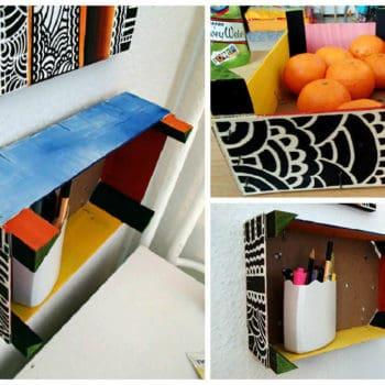 Upcycled Clementine Crate Into Shelf