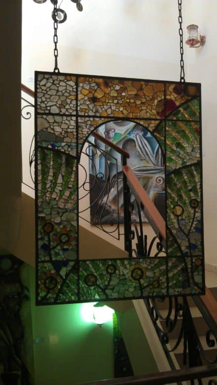 Sea Glass and Metal Recyclart