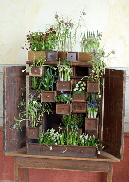 Cupboard Mini Garden Do-It-Yourself Ideas Recycled Furniture