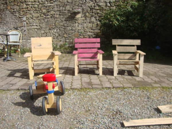 Garden Armchair for Children Recycled Furniture Recycled Pallets