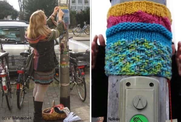 Urban Up-knitt-ling Clothing Interactive, Happening & Street Art