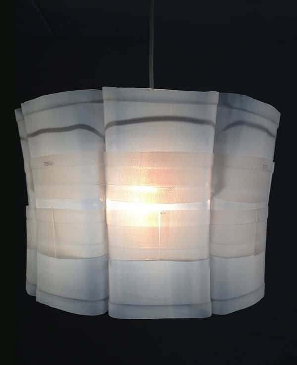Upcycled Plastic Milk Carton: Milkflower Lampshade Lamps & Lights Recycled Packaging