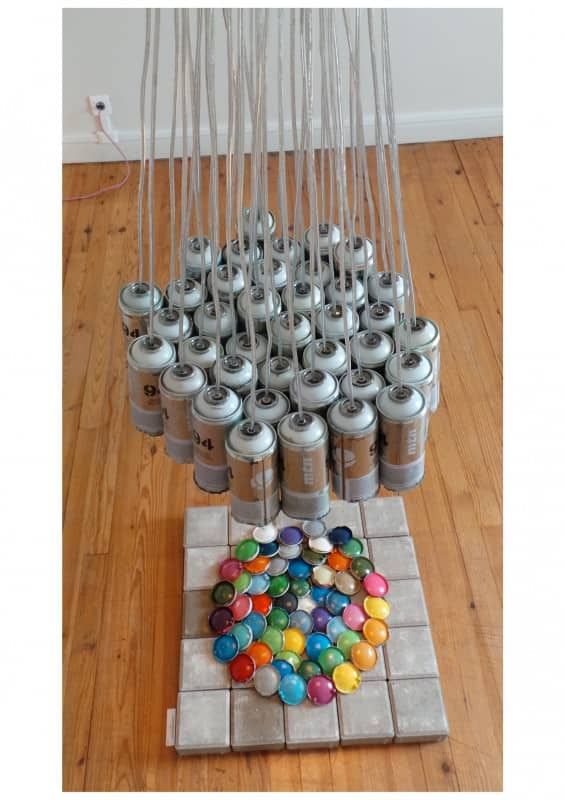 40 Spray Cans Light Lamps & Lights Recycled Art