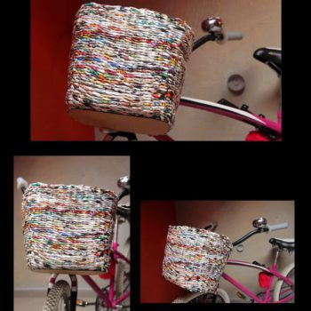 Bicycle basket made from paper