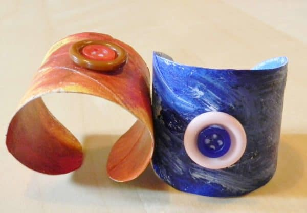 Bracelets with Cardboard Rolls Accessories Recycled Cardboard Upcycled Jewelry Ideas