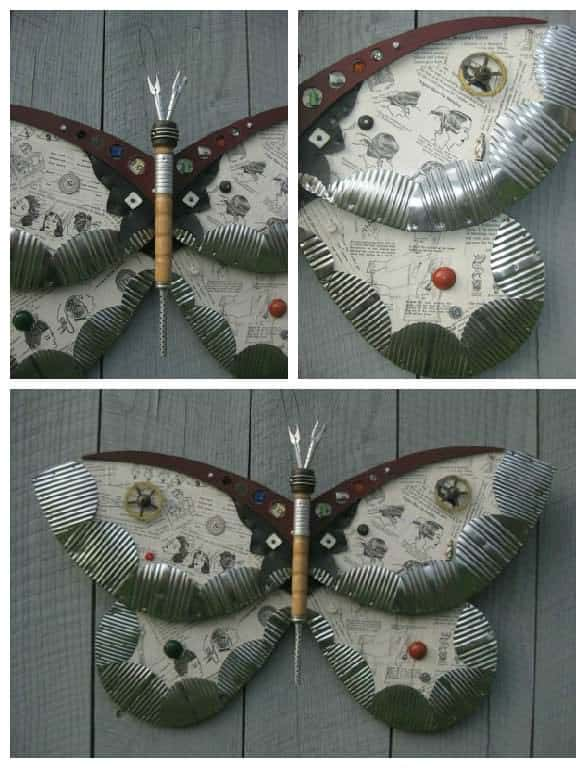 Found Object Moths And Butterflies • Recyclart