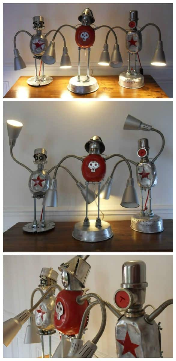 Lamps Robots Assemblage • Recyclart