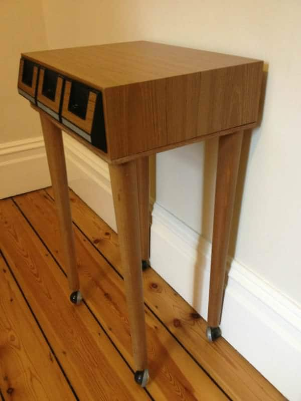 Upcycled Retro Cassette Bedside Table Recycled Furniture