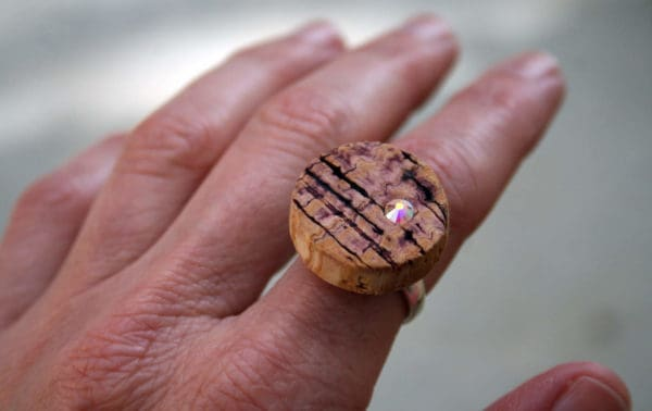 When Art & Wine Collide Accessories Recycled Cork Upcycled Jewelry Ideas Wood & Organic