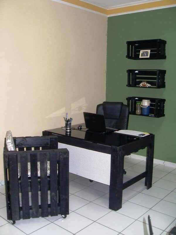 My Office with Pallets! Recycled Furniture Recycled Pallets
