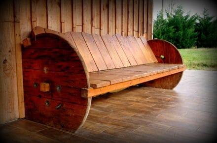 Garden Pallet Bench
