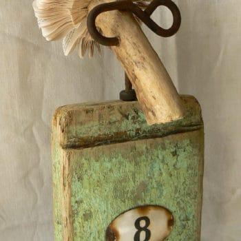 Re-used book, wood, hook ...