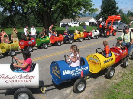 Kid's Train Made Out Of Recycled Barrels