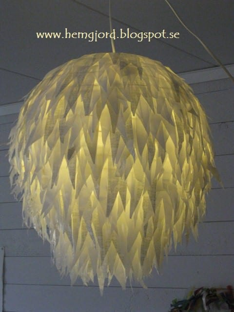Pendant Lamp Made of Plastic Bags #3000th Ideas !! Lamps & Lights