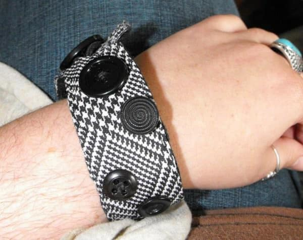 Upcycled Cuff Clothing Upcycled Jewelry Ideas
