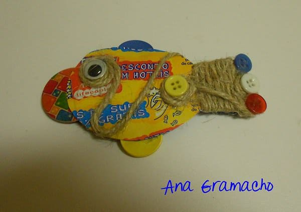 Can Fish Brooch Accessories Recycling Metal