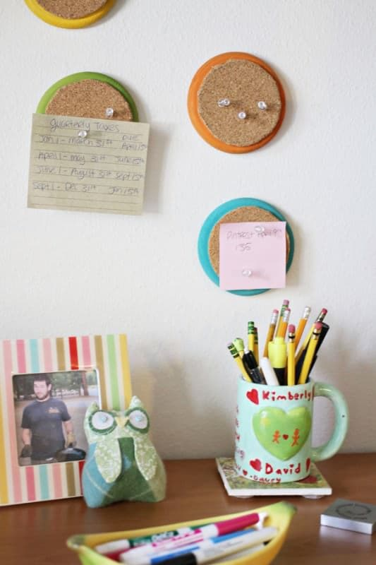 Colorful Recycled Mini Cork Boards Do-It-Yourself Ideas Recycled Cork