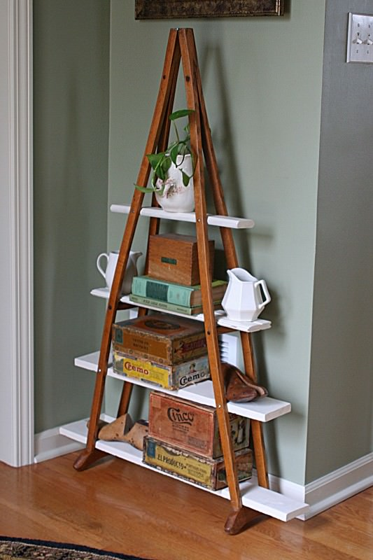 Shelf From an Old Pair of Crutches Do-It-Yourself Ideas Recycled Furniture