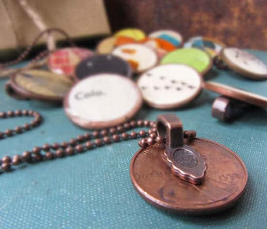 Penny Necklaces with Vintage Images Upcycled Jewelry Ideas