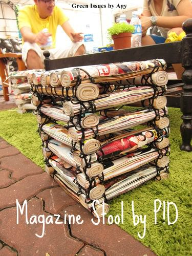 Stool Made From Upcycled Magazines & Cable Ties Recycled Furniture Recycling Paper & Books