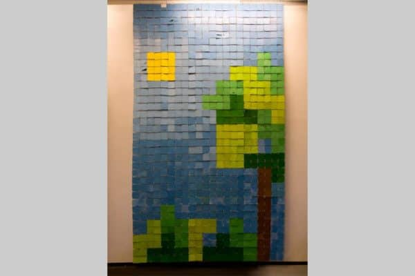 Play the World – Floppy Disks Art Recycled Art