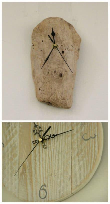 Handmade Clocks From Old Wooden Planks