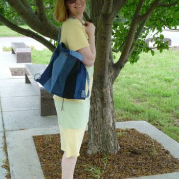 Old Blue Jeans to New Backpack Purse
