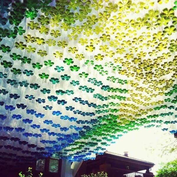 1,500 Plastic Bottles Recycled Into Parking Canopy Recycled Art Recycled Plastic