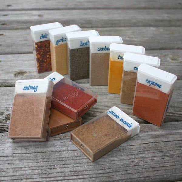 Repurposed Tictac Boxes for Camping Spices Do-It-Yourself Ideas Recycled Packaging