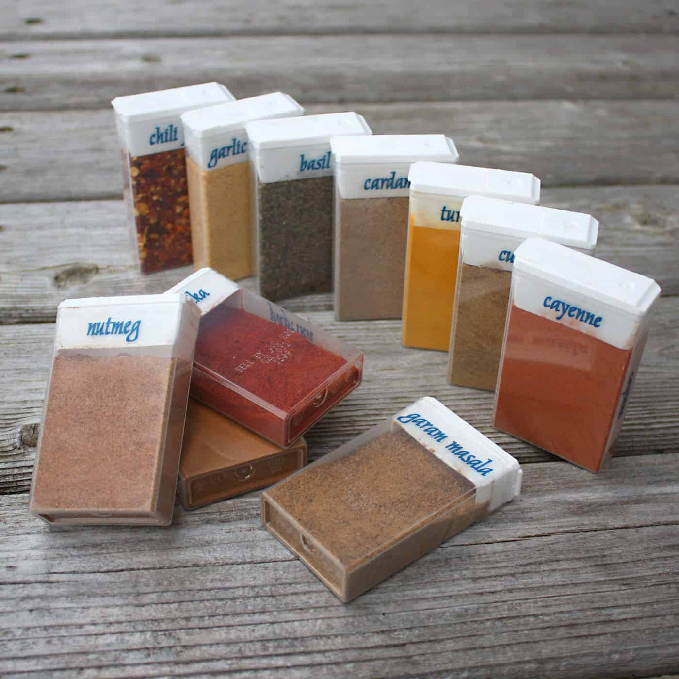 Repurposed Tictac Boxes for Camping Spices • Recyclart