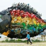 Giant Recycled Trash Fish