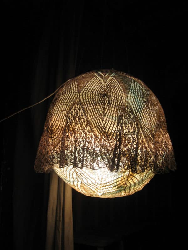 A Lampshade Made of Tablecloths Lamps & Lights