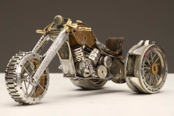 Watch Parts Motorcycles Recycled Art