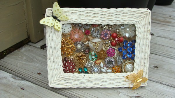 Jewelry Photo Frame Recycled Art Upcycled Jewelry Ideas