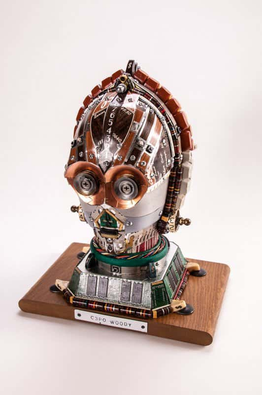 Gabriel Dishaw's Upcycled Creations Recycled Art Recycled Electronic Waste