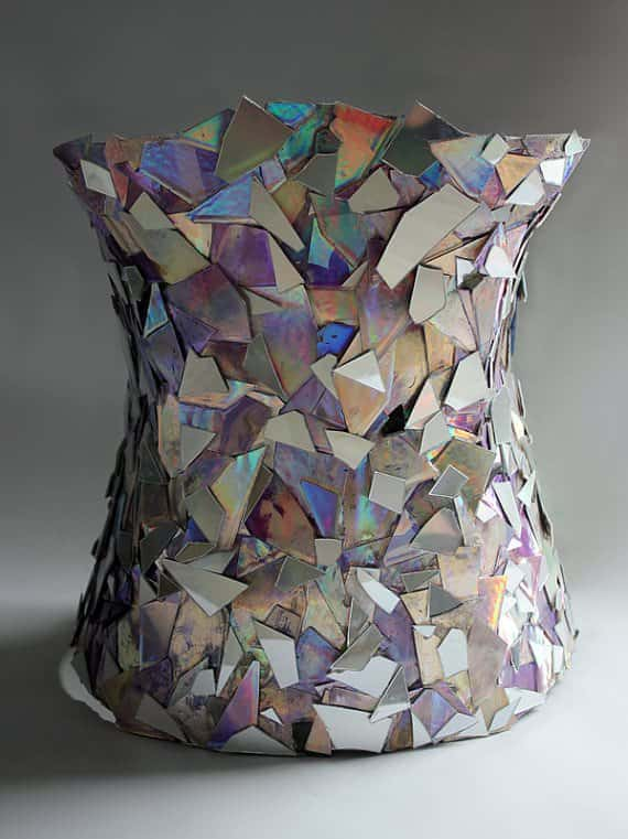 Mirror Corset From Recycled Cds Recyclart