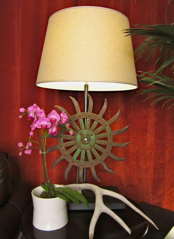 Antique French Farm Hoe Blade Lamp Do-It-Yourself Ideas Lamps & Lights