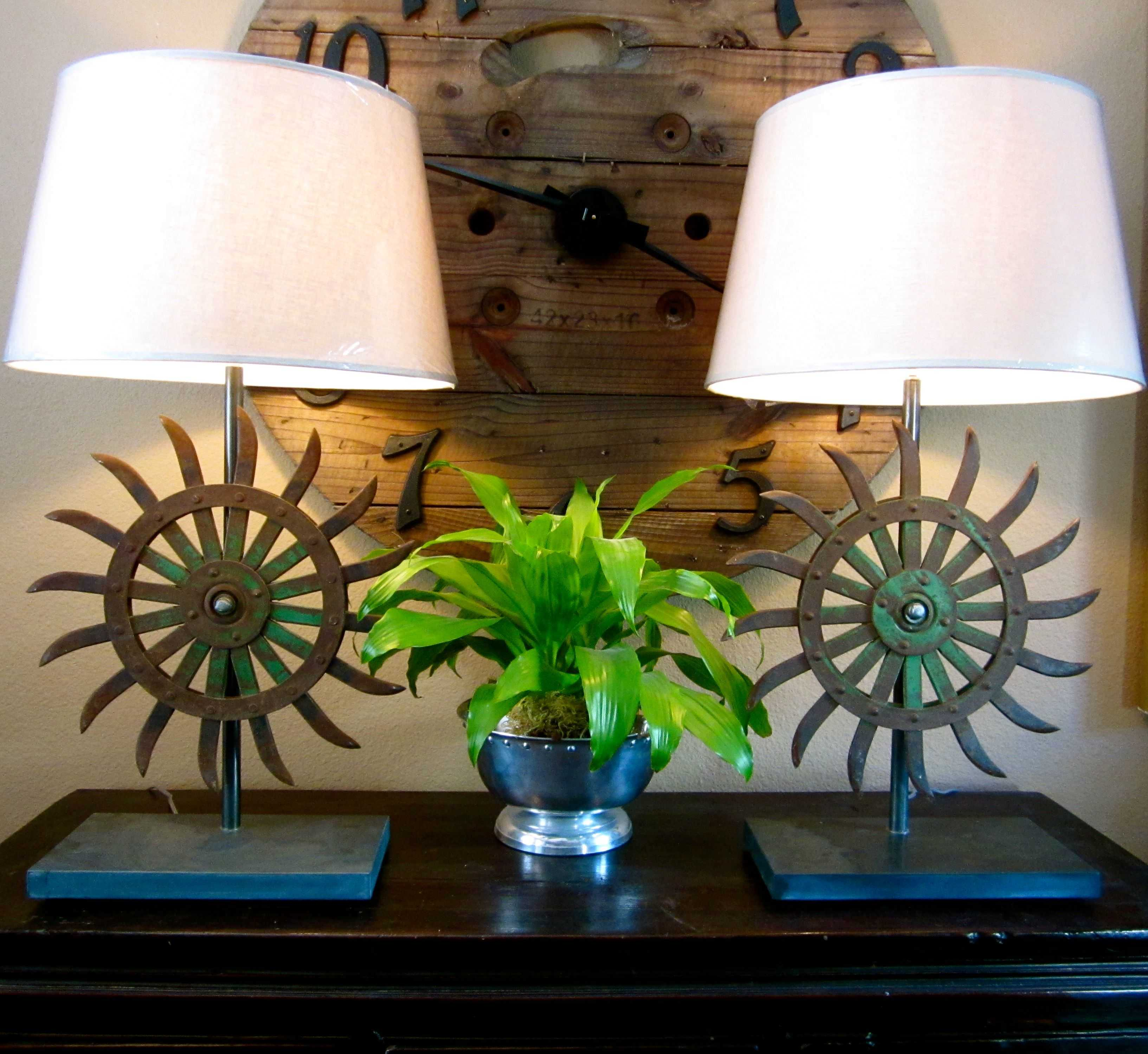 Antique French Farm Hoe Blade Lamp • Recyclart