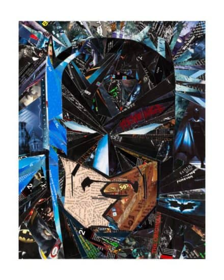 The Dark Knight - Returned, Risen & Recycled - Upcycled Art