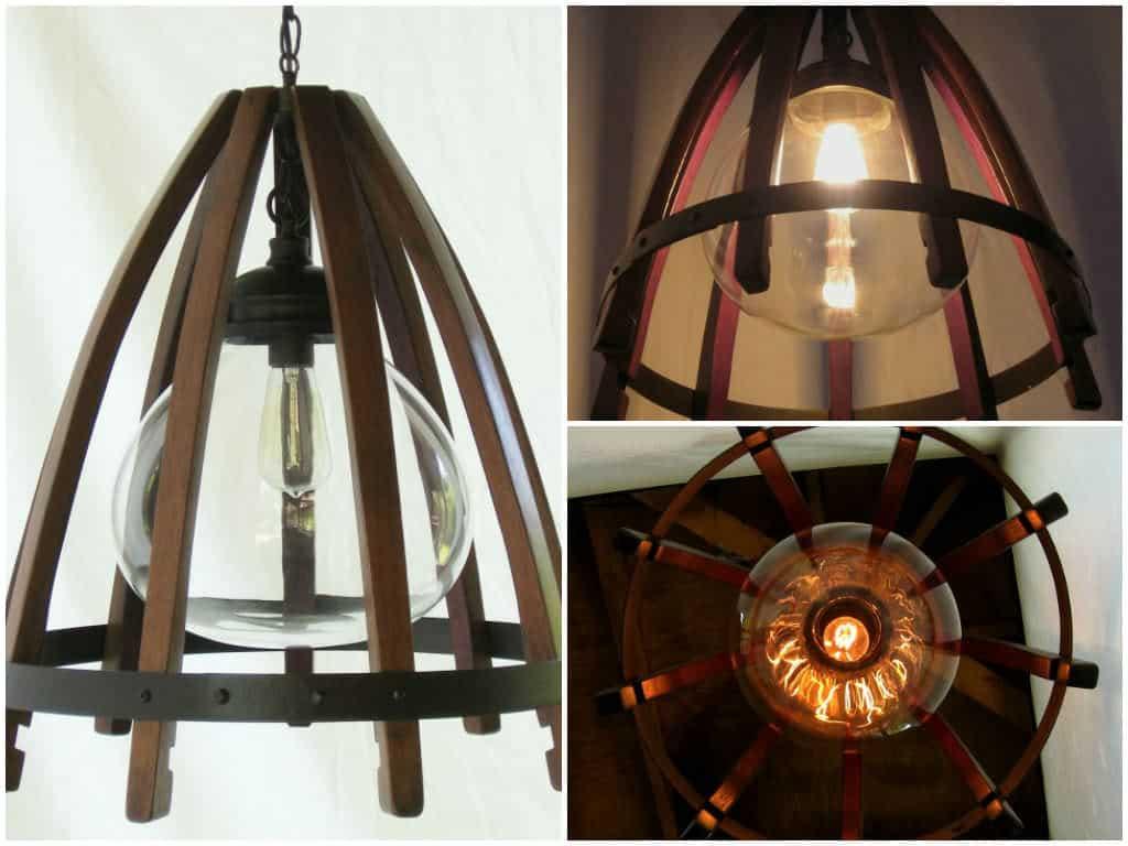 Medusa recycled oak wine barrel staves hoop pendant light with medusa recycled oak wine barrel staves hoop pendant light with glass shade recyclart aloadofball Images