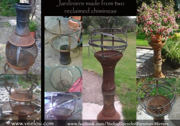Jardiniere Made from Two Reclaimed Chimineas Garden Ideas